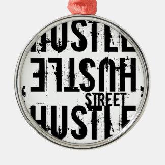 hustle metal ornament
