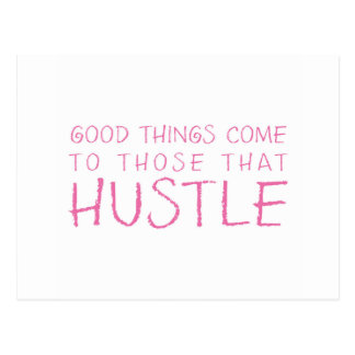 Hustle Pink Postcard