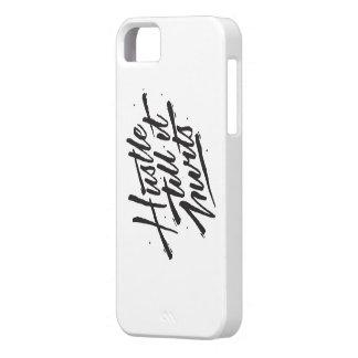 Hustle Till It Hurts White iPhone SE/5/5s Case