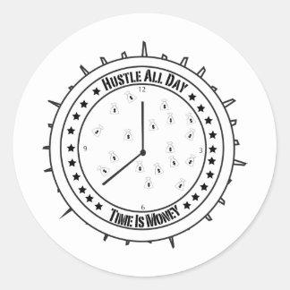 Hustle Tshirt Classic Round Sticker