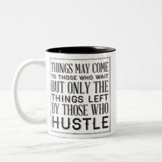 hustle Two-Tone coffee mug