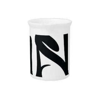 hustle typography beverage pitcher