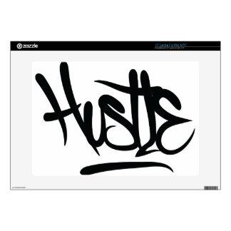 hustle typography laptop skins