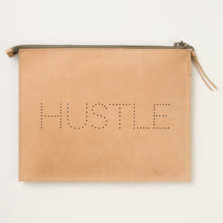 Hustle Typography Travel Pouch