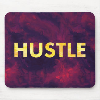Hustle Watercolor Modern Typography Mousepad