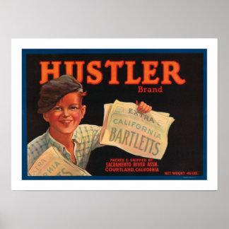 Hustler Brand Barletts Poster