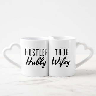 Hustler Hubby and Thug Wifey Wedding Couples' Coffee Mug Set