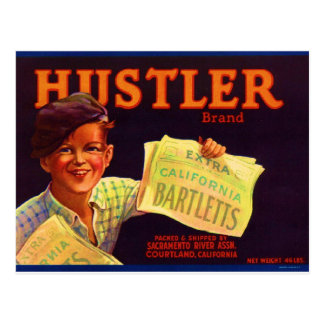 Hustler Pears Postcard