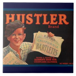 Hustler Vintage Crate Label Tile