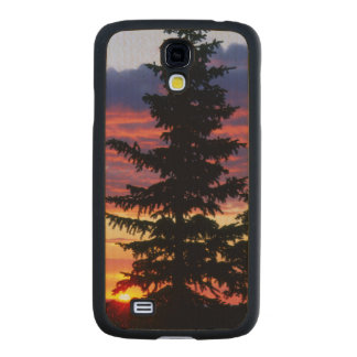 HUSTON PARK WILDERNESS, WYOMING. USA. Spruce Carved® Maple Galaxy S4 Case