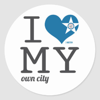 Huston Texas I Love my own city Classic Round Sticker