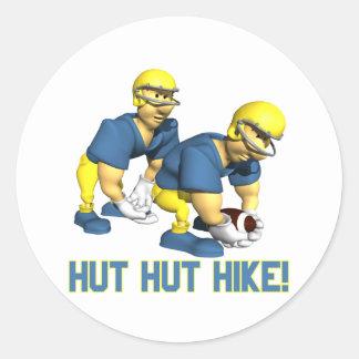 Hut Hut Hike Classic Round Sticker