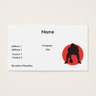 hut hut quarterback football silhouette design business card