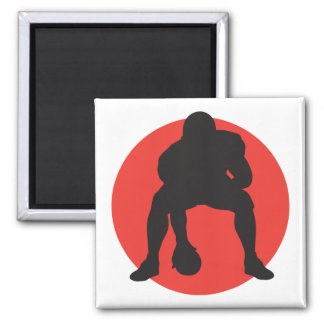 hut hut quarterback football silhouette design magnet