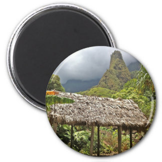 Hut in Iao Valley State Park, Maui, Hawaii 2 Inch Round Magnet