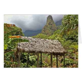 Hut in Iao Valley State Park, Maui, Hawaii Card