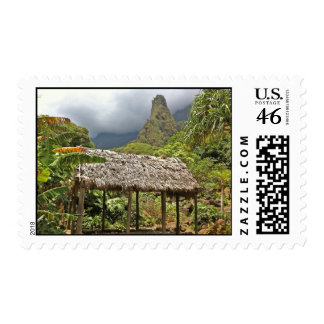 Hut in Iao Valley State Park Maui Hawaii Stamps