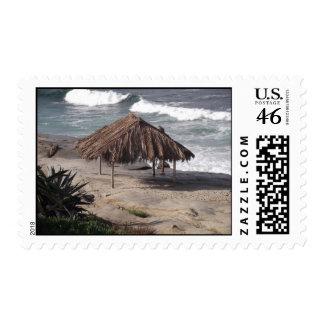 Hut On Beach Stamps
