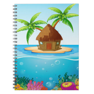 Hut on Island Note Books