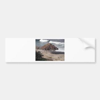 Hut On the Beach Bumper Sticker