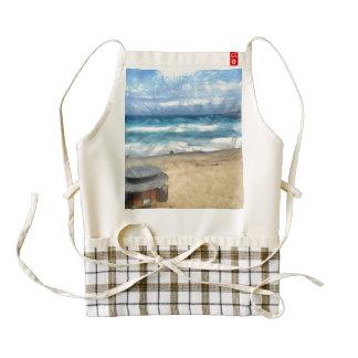 Hut on the beach zazzle HEART apron
