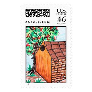 hut stamp