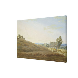 Hut with a Well on the Rugen Canvas Print