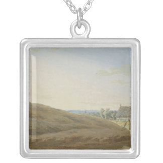 Hut with a Well on the Rugen Square Pendant Necklace