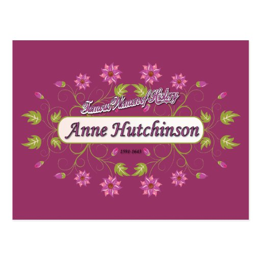 Hutchinson ~ Anne Hutchinson  Famous US Women Postcard