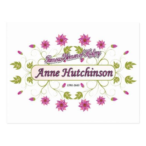 Hutchinson ~ Anne Hutchinson  Famous US Women Postcards