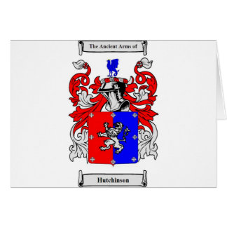 Hutchinson Coat of Arms Card