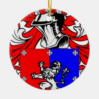 Hutchinson Coat of Arms Ceramic Ornament