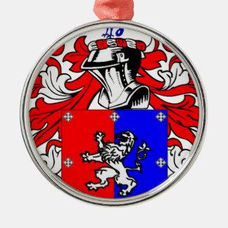 Hutchinson Coat of Arms Metal Ornament