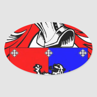 Hutchinson Coat of Arms Oval Sticker