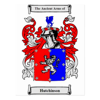 Hutchinson Coat of Arms Postcard