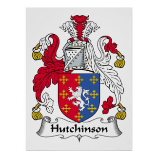 Hutchinson Family Crest Poster