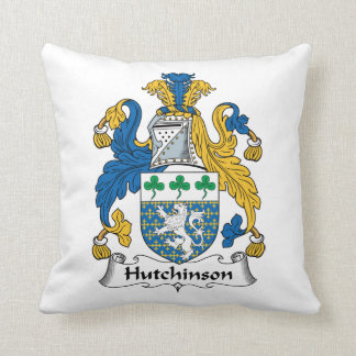 Hutchinson Family Crest Throw Pillow