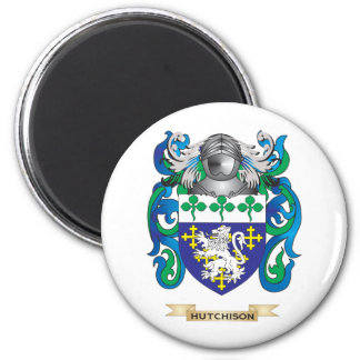 Hutchison Coat of Arms (Family Crest) 2 Inch Round Magnet