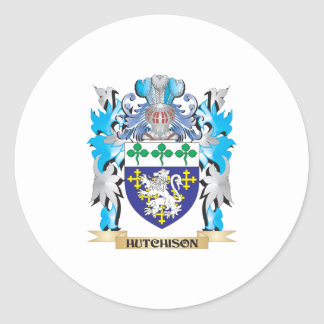 Hutchison Coat of Arms - Family Crest Classic Round Sticker