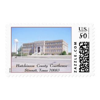 Hutchnson County Courthouse, Stinnett, TX  79083 Postage