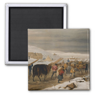 Huts and Warm Clothing for the Army, plate from 'T Magnet
