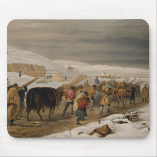 Huts and Warm Clothing for the Army, plate from 'T Mouse Pad