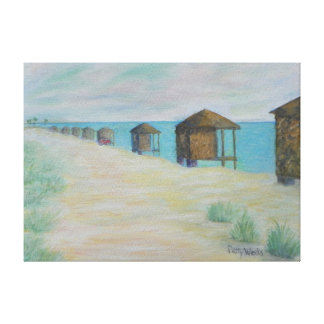 HUTS ON THE BEACH Canvas