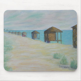 HUTS ON THE BEACH Mousepad