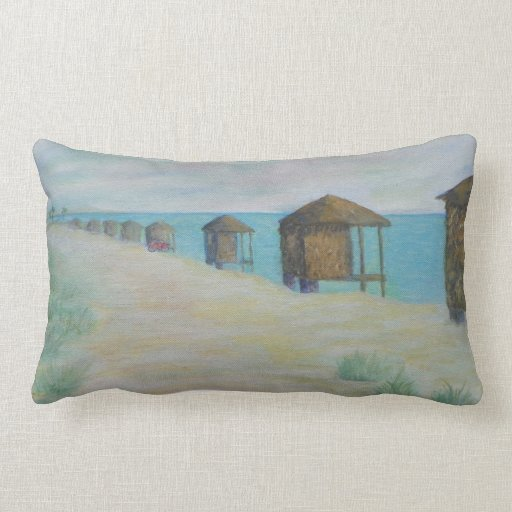 HUTS ON THE BEACH Pillow