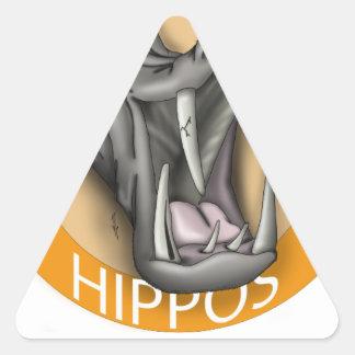Hutto Hippo Triangle Sticker