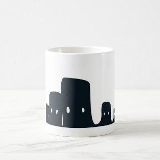huu black classic white coffee mug