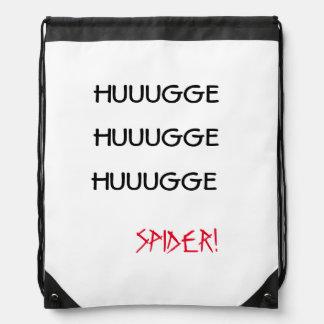 """HUUUGGE HUUUGGE HUUUGGE SPIDER!"" Drawstring Bag"