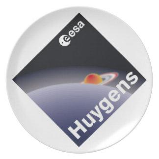 HUYGENS Probe to Titan Dinner Plates
