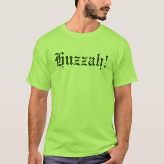 ¡Huzzah! Camisa medieval de la tipografía